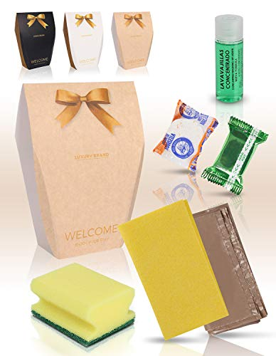 MAXIMA AMENITIES Kit de Limpieza de Cocina para alojamientos campings B&B Set de baño Bienvenida avanzado - 20 Kits