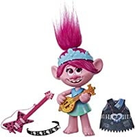 DreamWorks Trolls World Tour Pop-to-Rock Poppy Singing Doll with 2 Different Looks and Sounds, Toy Sings Trolls Just...