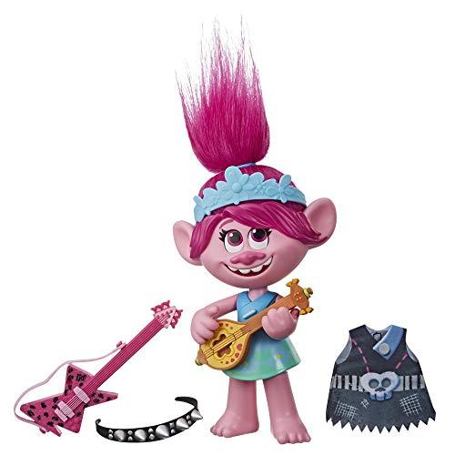 Hasbro Trolls- Trolls World Tour-Poppy Pop/Rock Figurina, Multicolore, E9411