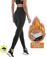 NHEIMA Pantalon de Sudation Femmes, Legging de Sport à Taille Haute en Nano-Matériaux pour Accélérer Transpiration,...