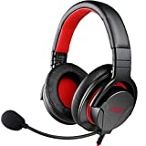 TAKSTAR Over Ear Headphones with Microphone, Headset with Extension Cable, can be Used for Video Recording/Chat/Gaming, Suitable for PC/MAC/PS4/Xbox One/Compatible with CTIA Interface Devices GM200