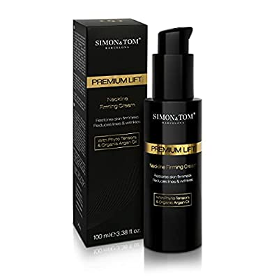 SIMON & TOM - PREMIUN LIFT - Neckline - Neck Firming Cream - Reduces the Double Chin - Tightening Intensive Rejuvenating Cream - Anti-Aging - With Argan Oil and Firming Phyto-Tensors / 100 ml. by Simon Tom