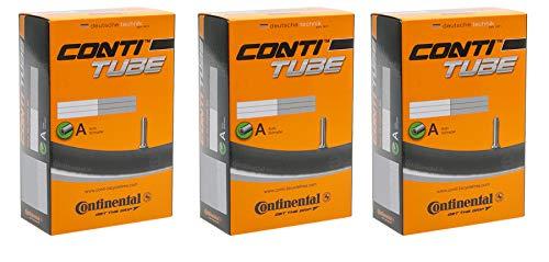 Continental - Cámara de aire para bicicleta de montaña (27,5 AV 40, 3 unidades, 27,5 x 1,75 - 2,40)