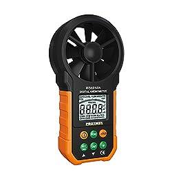 Protmex Digital Anemometer, MS6252A Handheld Wind Speed Meter Gauge Air Volume Meter Air Velocity Measuring Flow Meter Backlight