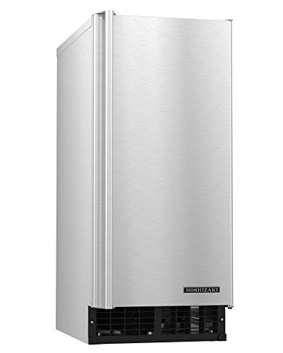 "Hoshizaki C-80BAJ 14 7/8"" Air-Cooled Undercounter Cubelet Ice Machine Maker with 22 lb. Storage Capacity, 80 lbs/Day, Stainless Steel, 115v"