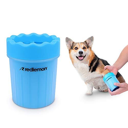 RedLemon Limpiador para Patas de Perro, Fabricado con Suaves Cerdas de Silicón, Portátil e Ideal para Paseos y Viajes con tu Mascota (Chico)