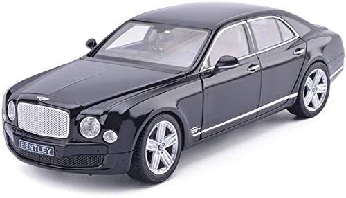 Dongyd Modelo de coche 1,18 Bentley Mulsanne Simulación aleación de fundición a presión adornos de juguete deportivos colección de coches joyas 30 x 12 x 7 cm (color negro)