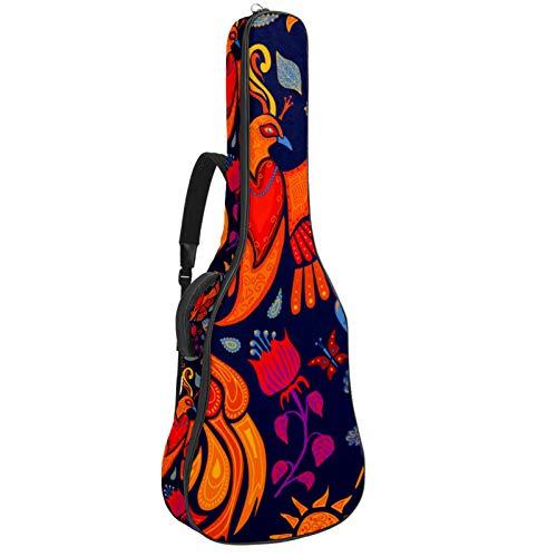 Gitarrentasche mit Schultergurten – Wasserdichte, gepolsterte Tasche für Akustik- und klassische Gitarre, schöne Firebird