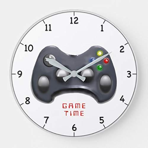 AmyyEden Video Gamer Time Geschenk Wanduhren Große Dekorative Holzuhr 30,5 cm Home Clock Geschenke für Frauen