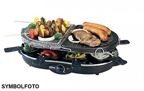 Silva-Homeline RGS 90T-A Kombi Raclette, 8 Personen, 1200 W
