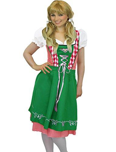 Yummy Bee - Oktoberfest Bière Fille Heidi Costume Allemande Déguisement Femme Grande Taille 36 - 46 (42-44,Gingham)