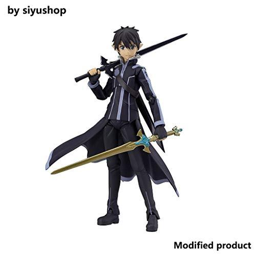 Siyushop Sword Art Kirito Alfheim Versione Online Figma Action Figure - Sculpt accurato Molto Dettagliato - Dotato di Armi - Alto 15 cm