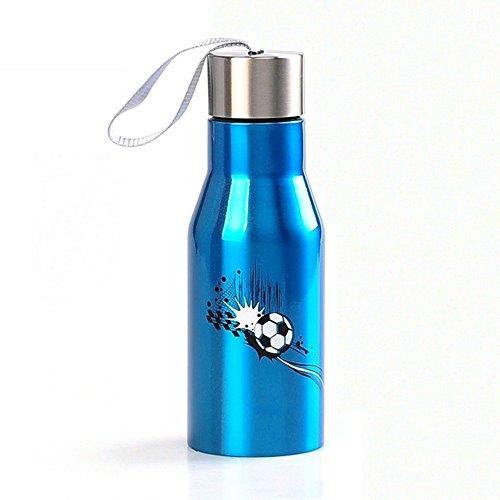 Termo Sosteniendo La Botella De Bebida Caliente Y Fría De Acero Inoxidable De Doble Vacío A Prueba De Fugas For Deportes Al Aire Libre For Acampar Excursiones En Bicicleta (Color : Blue)