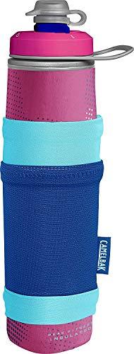 CamelBak Garrafa de água isolada Peak Fitness Chill com bolso 680 g, rosa/azul