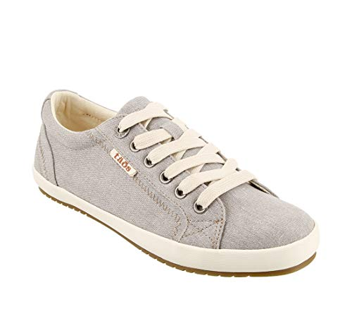 Taos Footwear Women's Star Grey Wash Canvas Sneaker 9 M US