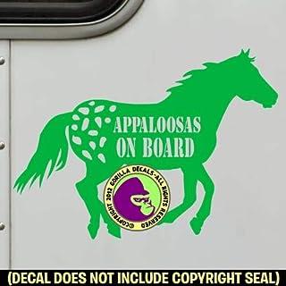 CRAZY APPALOOSA LADY Horses Vinyl Decal Sticker D