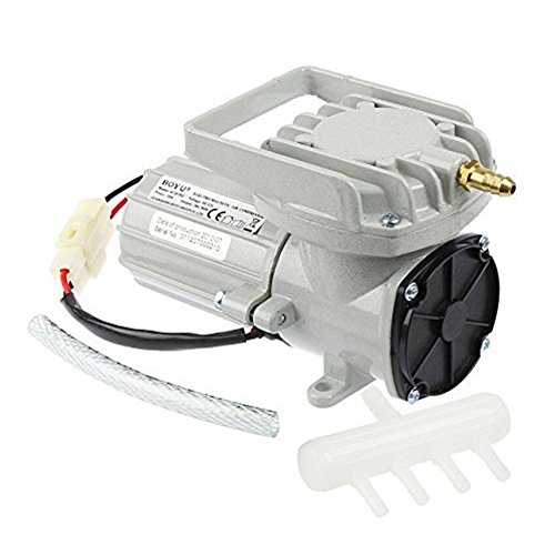 DC 12V Portable Fish Tank Pond Aquaculture Hydroponics Aquarium Air Pump Compressor Aerator 60W 120LPM/Min 1902GPH, Oxygen Supplies