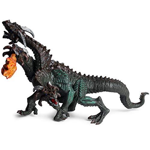 Mryishao 1 Stück Brauner Dreiköpfiger Hydra-Drachen-Modell Realistisches Märchen-kreaturenspielzeug Fancy Dragon Figure Collection Gift