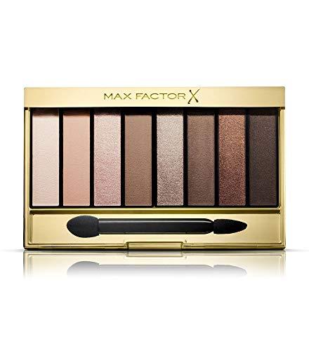 Max Factor Masterpiece Nude Palette Cappuccino Nudes 01 – Lidschatten-Palette mit 8 braunen und goldenen Tönen mit seidig-mattem und schimmerndem Finish