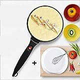 Pancake Maker Antiaderente Elettrico Elettrico Crepe Machine Pizza Crepe Maker Machine Padella Pizza Strumenti di Cottura, 800W