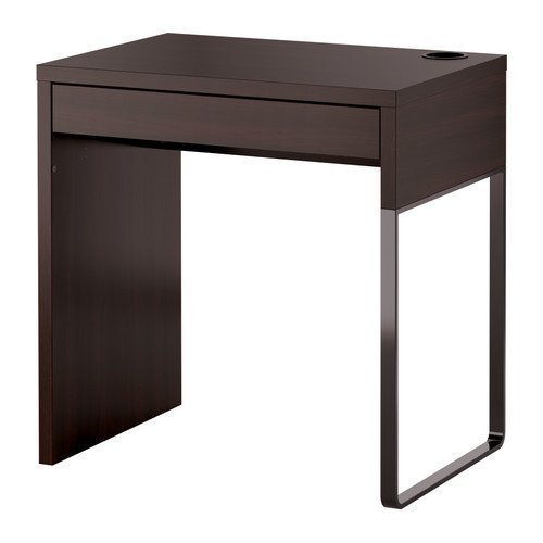 IKEA MICKE - Desk Black-BROWN - 73 x 50 cm