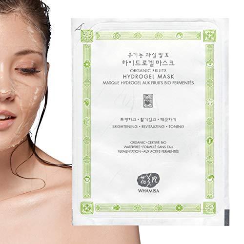 WHAMISA Organic Fruits Hydrogel Gesichtsmaske - Fermentierte koreanische Naturkosmetik - 33g - Anti Aging Pflege, Beruhigt, Befeuchtet die Haut, Gegen unreine Haut