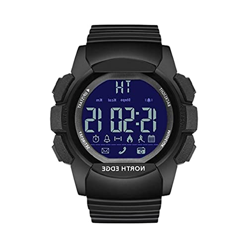 OWENRYIN North Edge Smart Watch podómetro, distancia de calorías, alarma, para IOS/Android, cronómetro, llamadas/mensajes, relojes militares para hombres