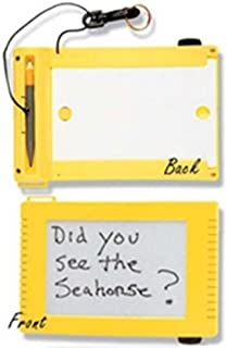 New QUEST Underwater Scuba Diving Magnetic Communication Slate (Yellow) with FREE Quest Holster ($9.95 Value)