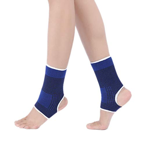 Luwint kid Compression Ankle Brace - Knitted Ankle Sleeve Sock Support for Sprains Arthritis Tendonitis Running Fitness, 1 Pair