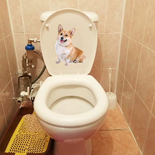 GSYZDCSTZ 3 stücke 15,5 * 20,4 cm Haustier Hund Corky Home Room Wandtattoos Dekoration Lustige Toilette Aufkleber