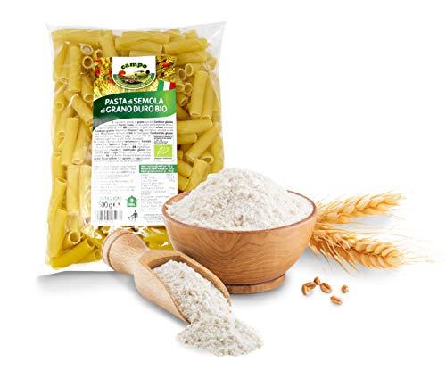 Carioni Food & Health Macarrones con sémola de Trigo Duro ecológica, Pasta Italiana Tortiglioni - 500 gr (Paquete de 12 Piezas)