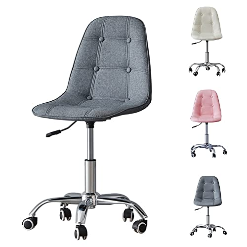 OFCASA Computer Desk Chair for Home Office Grey Fabric Office Chair Height Adjustable Swivel Chair on Wheels for Desk