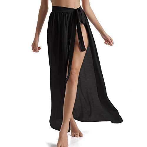 Vertvie dames wrap rok sarong wrap bikini sjaal strandjurk zwembad, licht, badpak cover up pareo bikini rok