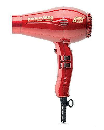 Parlux 3800 Ceramic and Ionic 2100W Hairdryer - Red