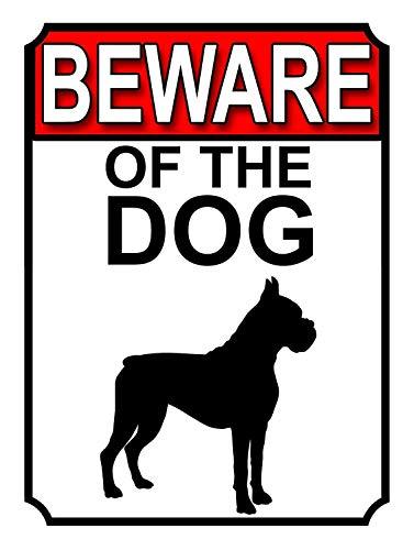 HONGXIN Letrero de metal vintage con texto en inglés «Beware of the Dog» para decoración de casa, bar, pub, garaje, banda, cerveza, huevos, café, supermercado, granja, jardín, dormitorio