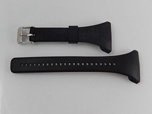 vhbw TPE Ersatz Armband L 11.5cm + 8.5cm passend für Polar FT4, FT4f, FT4m, FT7, FT7m Fitness Uhr, Smart Watch - schwarz