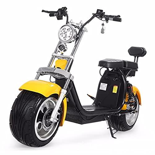 CYGGL Patinete eléctrico de Dos Ruedas Harley, Motor eléctrico de 1500W, batería...
