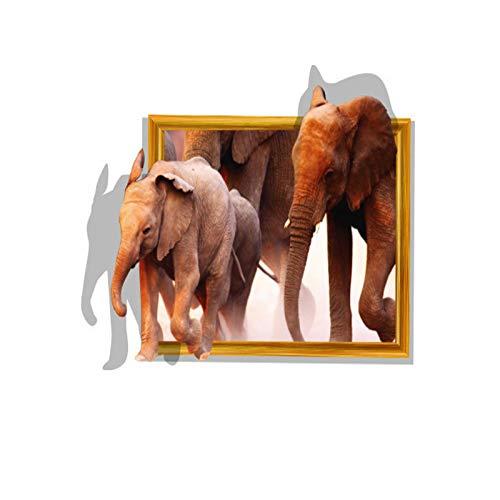 3D De Pared Pegatinas del Elefante Y del Elefante del Bebé Pegatinas De Bricolaje Desmontables para Dormitorio Y Sala De Decoración De La Pared De Fondo Habitación