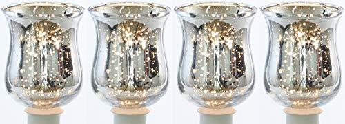 Novaliv theelichtopzet helder 10 cm glazen opzetstuk voor kandelaar kaarsenstandaard glas adventskrans theelichthouder staafkaarshouder kaarsenpick cm