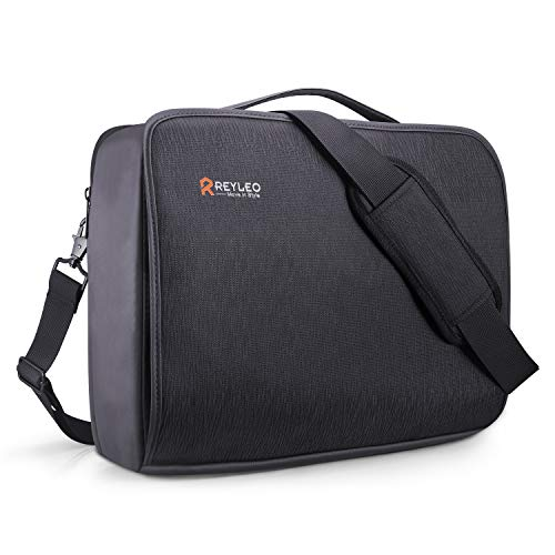 REYLEO Borsa per PC Portatile da 15.6 Pollici e Tablet, Borsa per Laptop Spaziosa per Donne e Uomo Messenger Spalla Borsa Tracolla da Viaggio,Borsa e Messenger Nero LCB1A