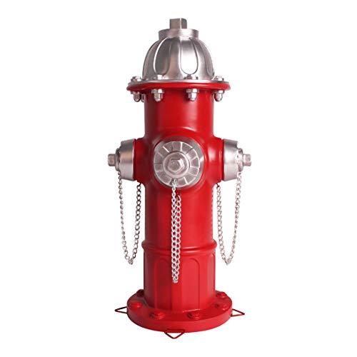 jinhuoba Replica Fire Hydrant Statue Puppy Pee Post, 14.5 inches Outdoor Garden Statue, Yard Decor Lawn Ornament