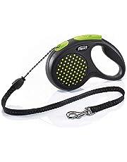 TRIXIE flexi DESIGN, Correa Extendable, rope roller, M, 5 m, Green, Dog