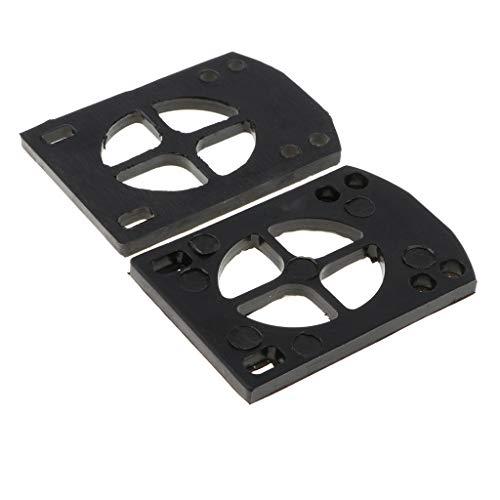 MagiDeal 2er Pack Longboard Riser Pads, 5mm, Paar Risers Skateboard Shock Pads, Schwarz