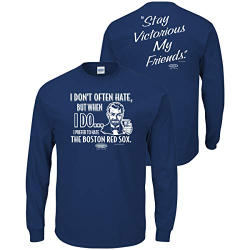 I Dont Often Hate Blue T-Shirt Stay Victorious S-3X Los Angeles Baseball Fans