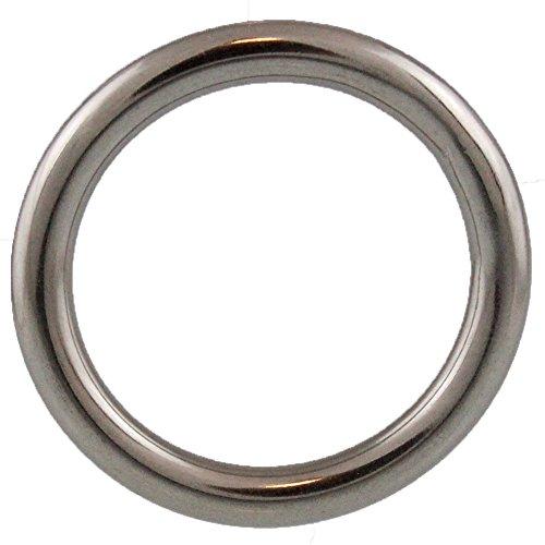 2 Stück Ringe 12 X 70 geschweißt, poliert, Edelstahl A4