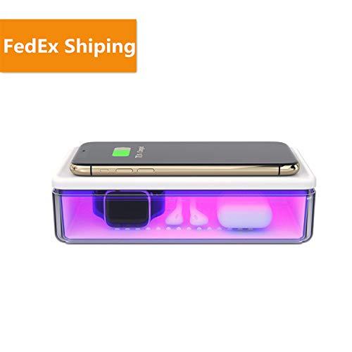Uv Cell Phone Sanitizer, Portable Uv Sanitizer Cell Phone Charger Light-uv Cell Phone Sanitizer and Wireless Charger Gift for Family