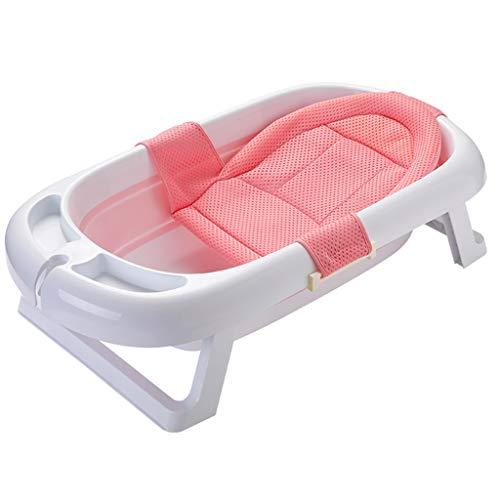 Kjz-bathtub babybadkuip, veilige en duurzame plastic douchebak ademend baby-zitkussen badkamer-hotel-douchecilinder 88 x 50 x 23 cm