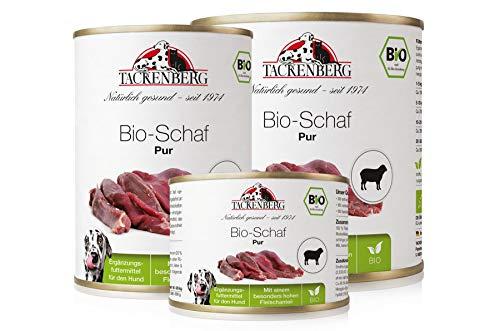 Tackenberg Hundefutter, Nassfutter für Hunde, 100% Bio Schaf pur, getreidefrei, Premium Dosenfutter