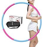 JINQI 98Cm Adult Fitness Hula Hoop Yoga Aro De Espuma 8 Segmentos Círculo De Anillo De Ejercicio Extraíble para Niños Principiantes Equipo De Ejercicio para Adelgazar