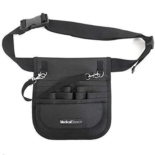 Medical Organizer Belt (Fits 34'- 48' Waist) - Nurse Fanny Pack with Tape Holder - Premium Utility Nurse Belt, EMT, CNA, NP, PA - Multi Compartment Nurse Apron Hip Bag
